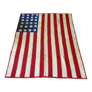 Reverse American Flag Quilt