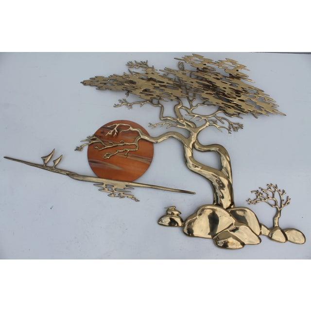 Bijan Solid Brass Wall Sculpture - Image 2 of 10