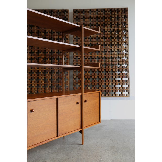 Walnut Milo Baughman for Glenn of California Wall Unit For Sale - Image 7 of 11