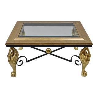 Late 20th Century Regency Rectangular Swan Base Coffee Table