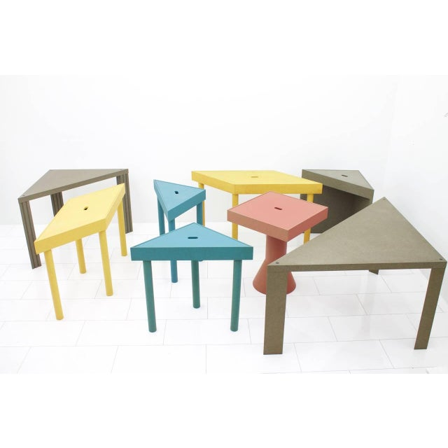 Lacquer Massimo Morozzi Tangram Tables for Cassina, 1983 For Sale - Image 7 of 8