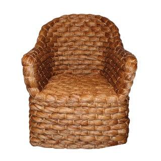 Modern Woven Chunky Banana Leaf Chair