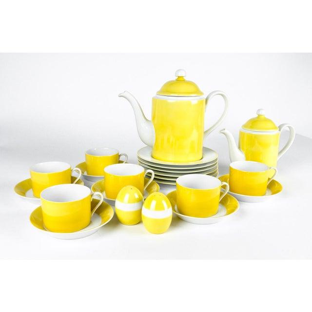 Ceramic Mid Century Lemon Porcelain Luncheon Service - Set of 30 For Sale - Image 7 of 7