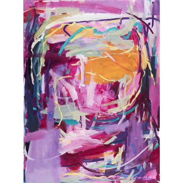 """Early 21st Century """"On the Road to Joy"""" Original Painting on Canvas For Sale - Image 5 of 5"""