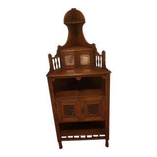 Antique Oak Corner Stand For Sale