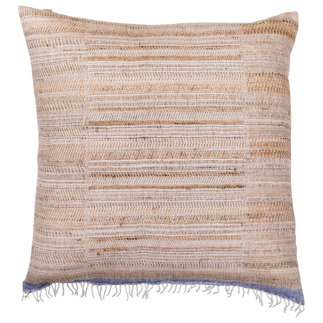 Indian Handwoven Pillow Hand Variation Arrow For Sale In Los Angeles - Image 6 of 6