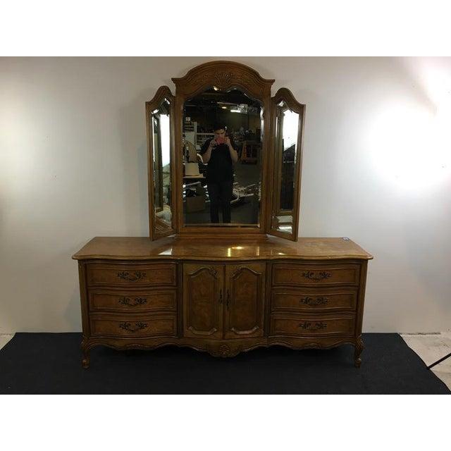 Vintage Thomasville Carved Wood French Provincial 'Court Triple' Dresser - Image 2 of 11