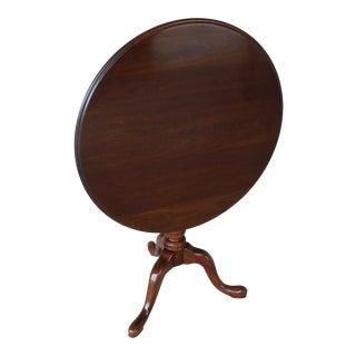 "Ethan Allen Georgian Court Cherry Tilt Top Accent Pedestal Table 36""w For Sale"