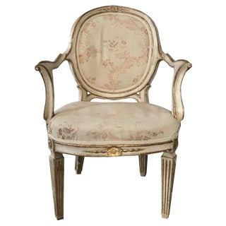 18th C. Gilt & Cream Painted Armchair