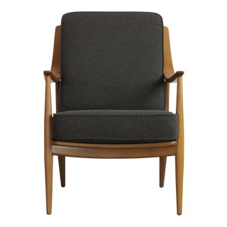 1950s Grey Peter Hvidt and Orla Mølgaard-Nielsen Lounge Chair For Sale
