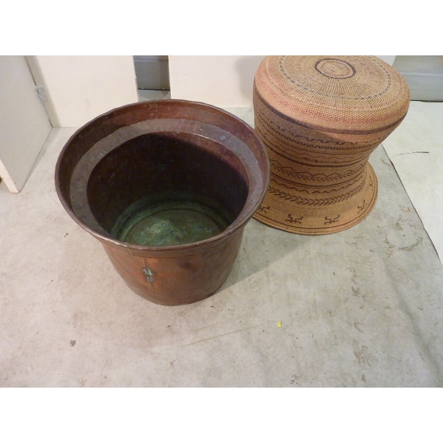 Copper Lined Basket Cachepot For Sale In Boston - Image 6 of 8