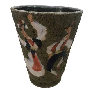 Mila Dubrovnik 1975 Volcanic Glazed Mid Century Modern Vase For Sale