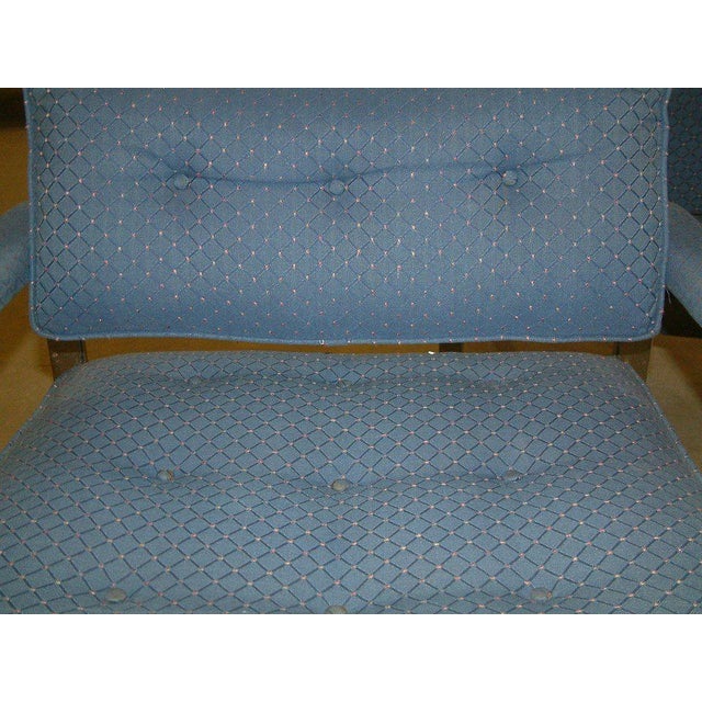 Blue 1970s Milo Baughman for Thayer Coggin Lounge Chairs - a Pair For Sale - Image 8 of 9