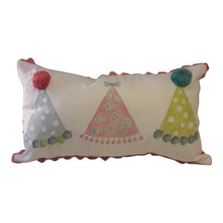 Celerie Kemble for Eastern Accents Hand-Painted Party Hats Pillow Cover For Sale