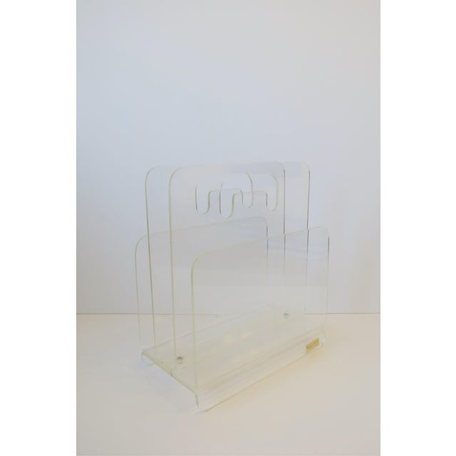 Clear Acrylic Magazine Holder, Circa 1976 For Sale In New York - Image 6 of 13