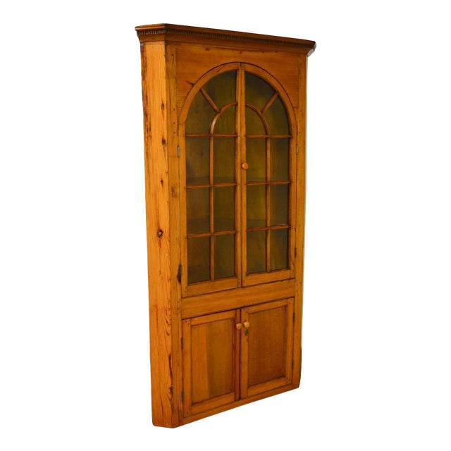 Antique 19th Century Southern Yellow Pine Corner Cabinet - Antique 19th Century Southern Yellow Pine Corner Cabinet Chairish