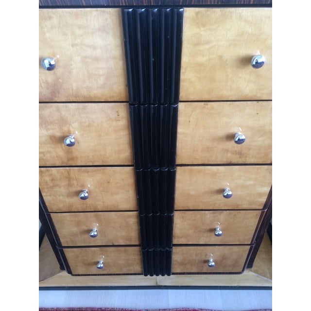 1920s Art Deco Zebra Wood Dresser - Image 3 of 7