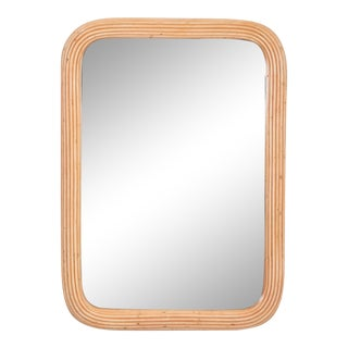 1970s Pencil Reed Mirror For Sale