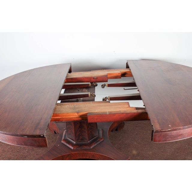 Antique Royal Furniture Co. Regency Mahogany Expandable Dining Table - Image 3 of 10