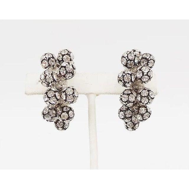 1960s Rhinestone & Faux-Pearl Earrings For Sale - Image 11 of 12