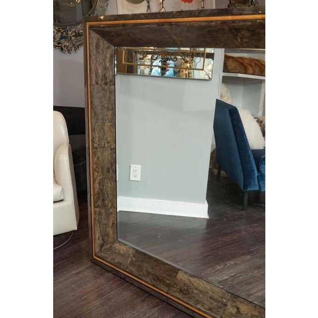 Orange Coco Shell and Parchment Mirror For Sale - Image 8 of 10