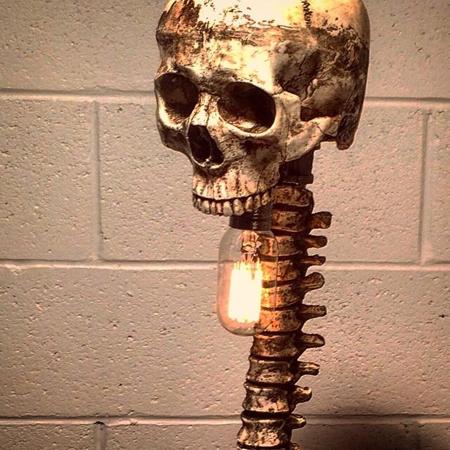 Gothic Bone Lamp For Sale - Image 3 of 3
