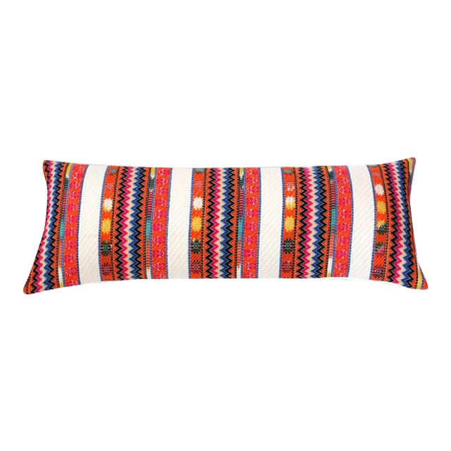 Uttejak Orange Embroidered Pillow - Image 1 of 3