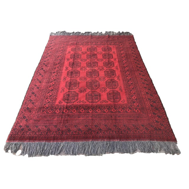 Vintage Hand-Knotted Wool Rug- 6′7″ × 10′7″ For Sale - Image 13 of 13