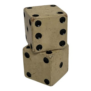 Scale Vintage Wooden Casino Dice - a Pair For Sale