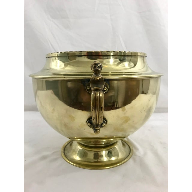 Late 19th Century English 19th Century Brass Cache Pot For Sale - Image 5 of 6
