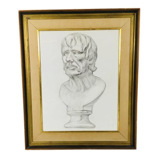 Academy Style Charcoal on Paper For Sale