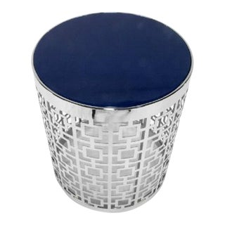 Contemporary Jonathan Adler Nixon Polished Nickel Side Table For Sale