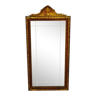 Art Deco Carved Wood Gilt Framed Wall Mirror For Sale