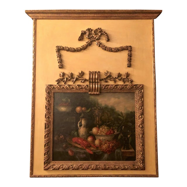 Antique French Still Life Painting in Panel, Circa 1870-1890. For Sale