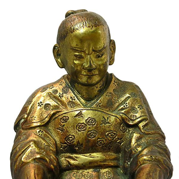 Late 19th Century Vintage Japanese Meiji Period Gilt Bronze Figure For Sale - Image 4 of 7