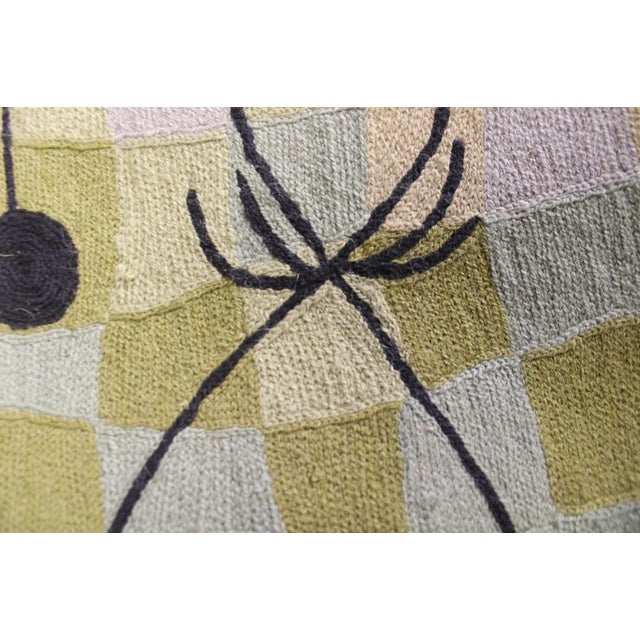 """Cubist Hand-Stitched Wool 'Cubist' Rug -- 3' X 4'10"""" For Sale - Image 4 of 5"""