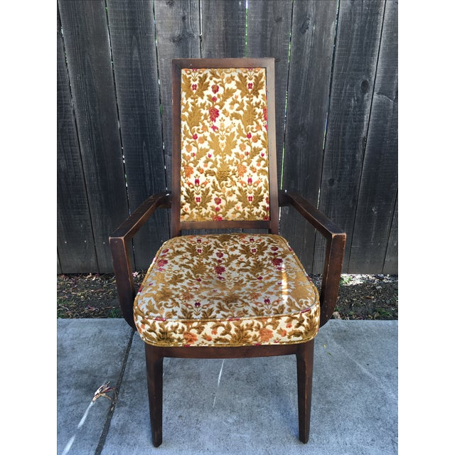 Wooden Frame Vintage Dining Chairs - Set of 4 - Image 8 of 8