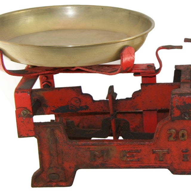 Vintage Large Red Table Scale - Image 2 of 2