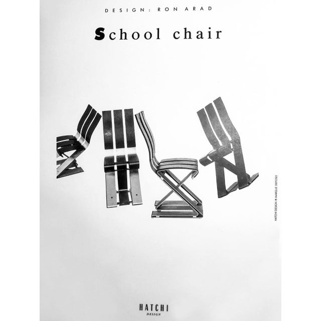 """Metal Ron Arad """"School Chair"""" For Sale - Image 7 of 13"""