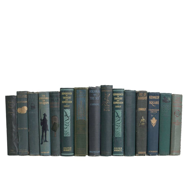 Mid-Century Modern Vintage Pine Book Set - Set of 15 For Sale - Image 3 of 3