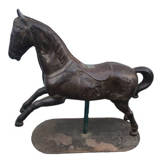 Antiques Collectible Thin Metal Toy Horse For Sale