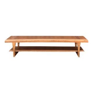 Walnut & Oak Coffee Table by Lane Altavista For Sale