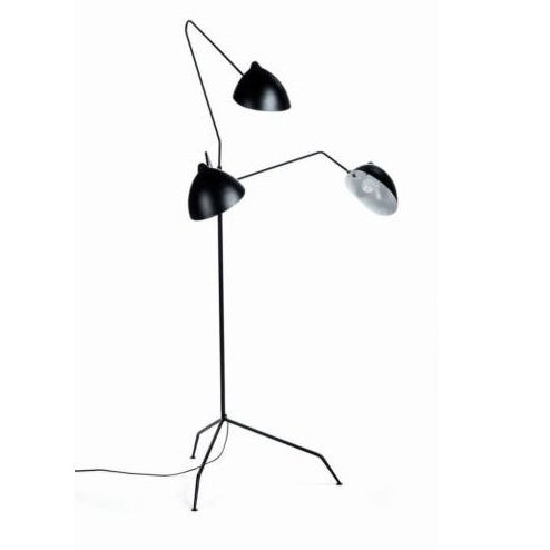 This Serge Mouille reproduction floor lamp is in pristine condition. It comes with brass plated screws, a matte black...