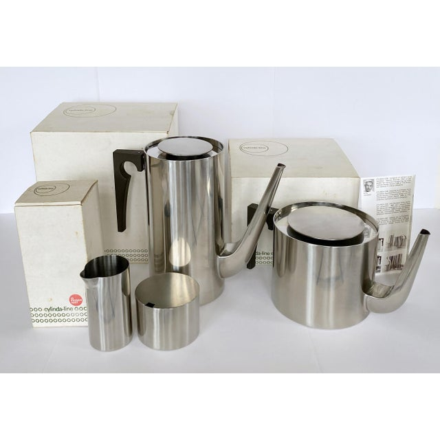 1967 Arne Jacobsen Cylinda Line for Stelton of Denmark Coffee and Tea Set - 4 Pieces For Sale In New York - Image 6 of 9