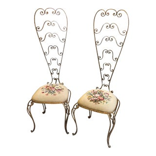 Pier Luigi Colli Mid-Century Modern Vanity Chairs, Circa 1950 - a Pair For Sale
