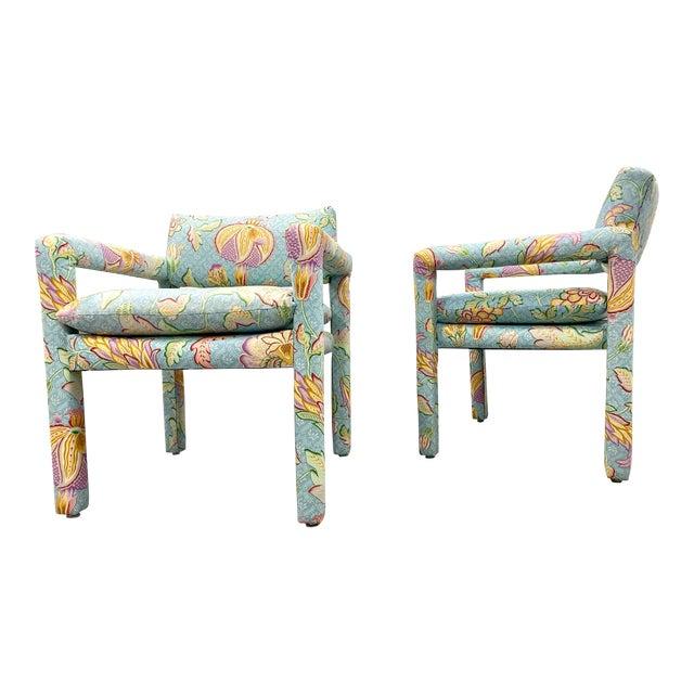 Vtg Milo Baughman for Thayer Coggin Parsons Club Chairs- A For Sale