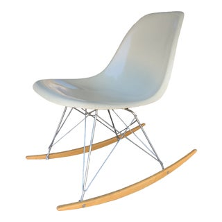 Mid Century Charles Eames for Herman Miller Fiberglass Rocker For Sale