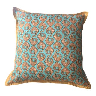 South African Handmade Linen Pillow For Sale