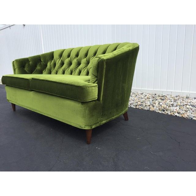 Fabulous Vintage Citation By Kroehler Green Velvet Loveseat Creativecarmelina Interior Chair Design Creativecarmelinacom