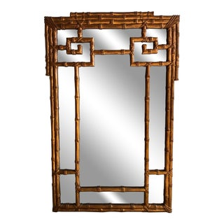 Carvers Guild Faux Bamboo Greek Key Mirror For Sale